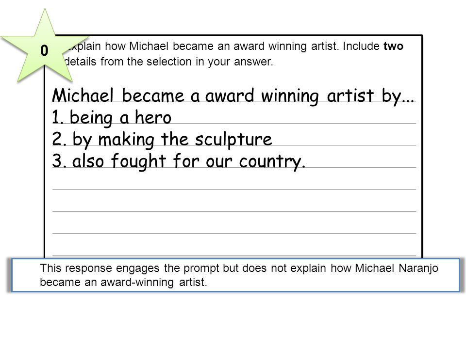 Michael became a award winning artist by... 1. being a hero