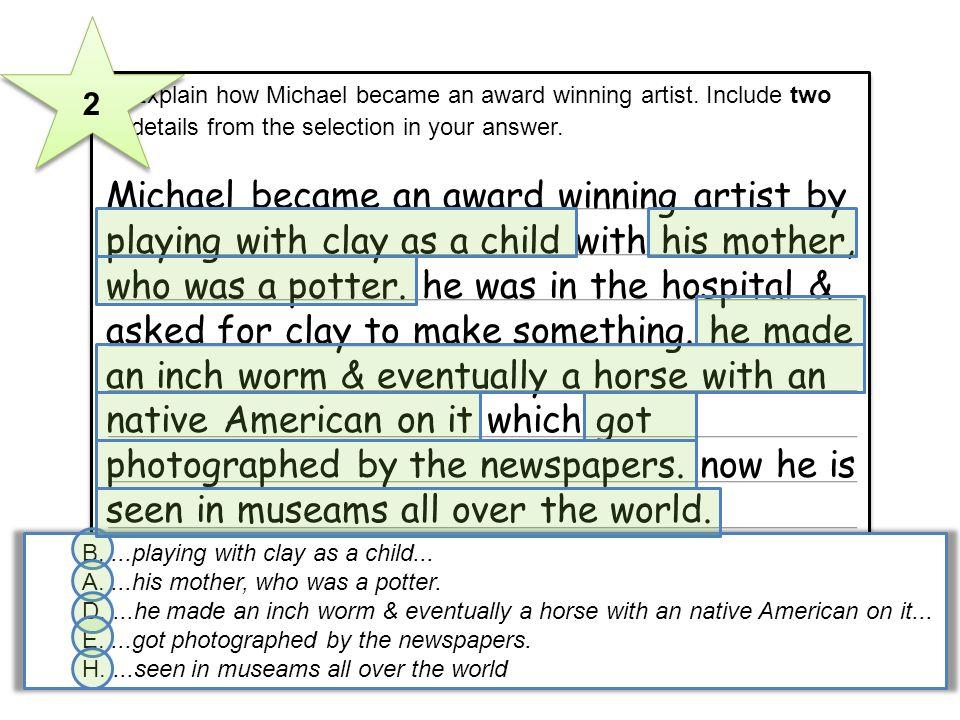 Michael became an award winning artist by
