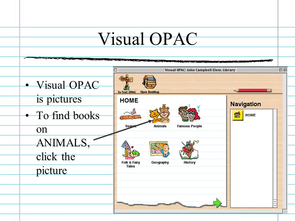 Visual OPAC Visual OPAC is pictures