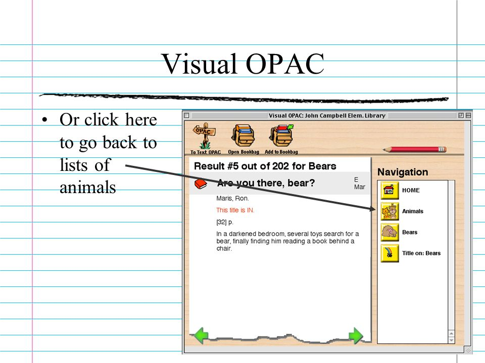 Visual OPAC Or click here to go back to lists of animals