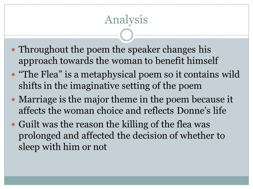 the flea by john donne poem analysis ppt video online  8 analysis throughout