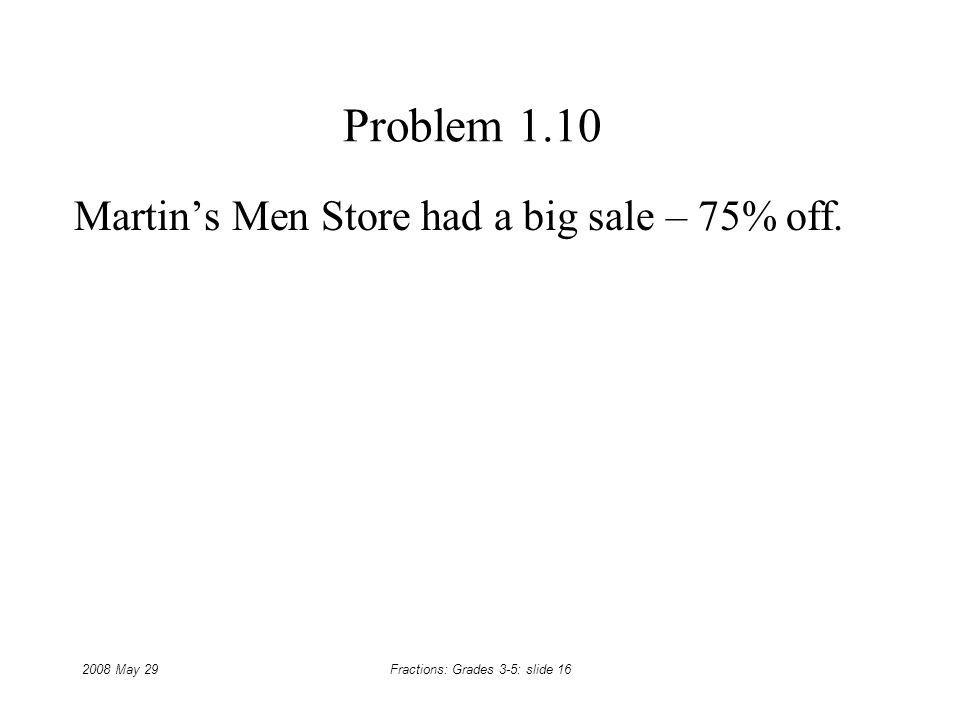 Martin's Men Store had a big sale – 75% off.