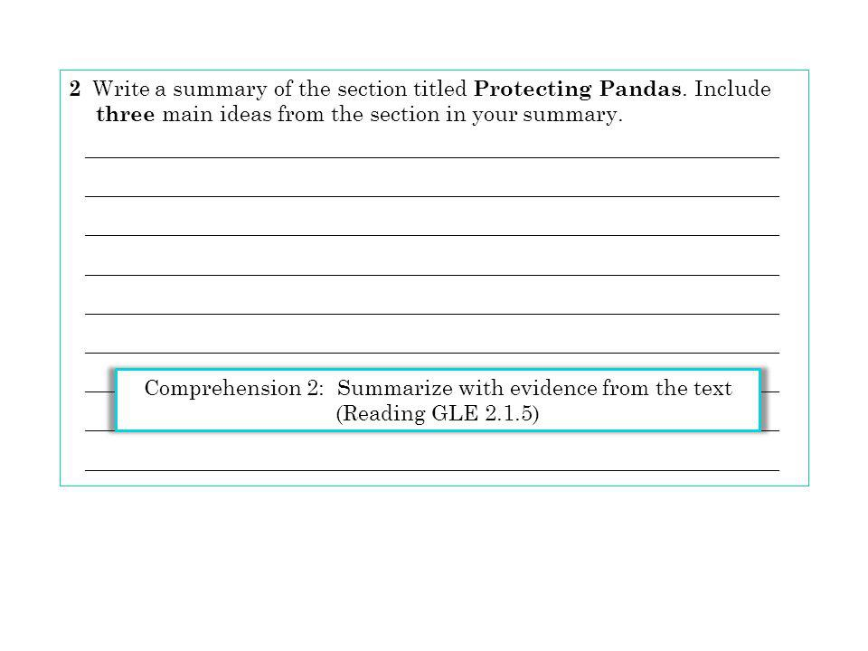 2 Write a summary of the section titled Protecting Pandas. Include