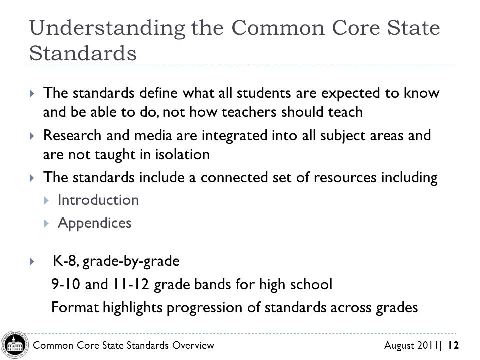 Understanding the Common Core State Standards