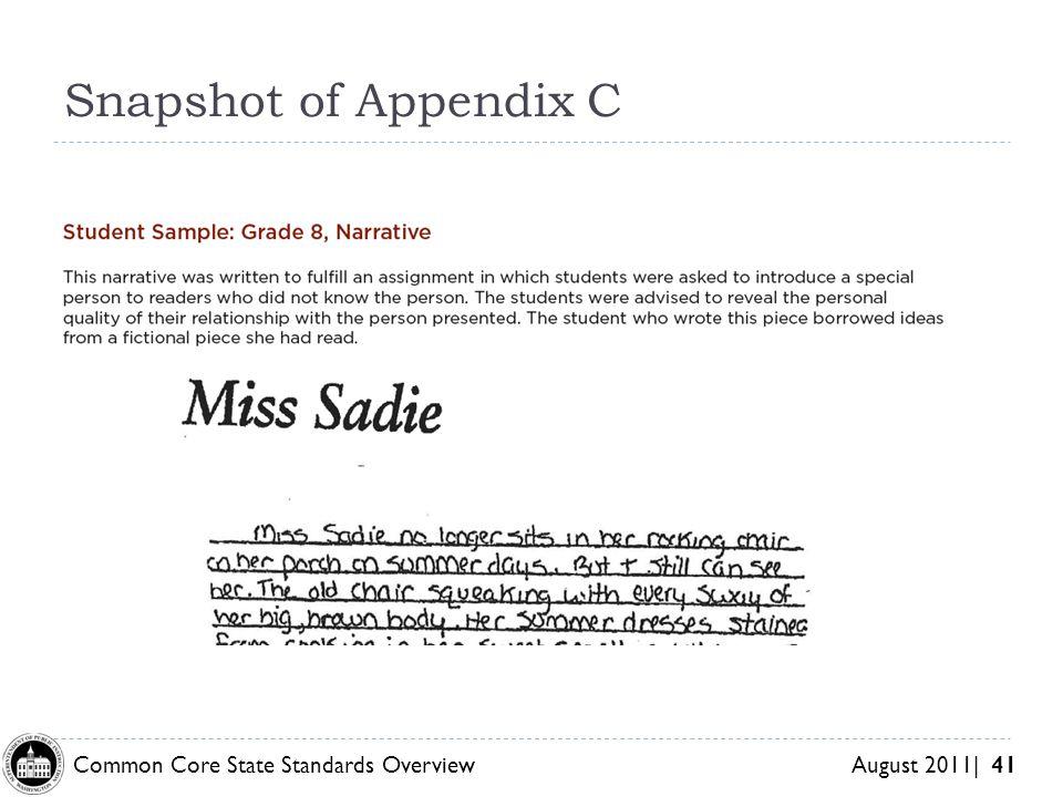 Snapshot of Appendix C