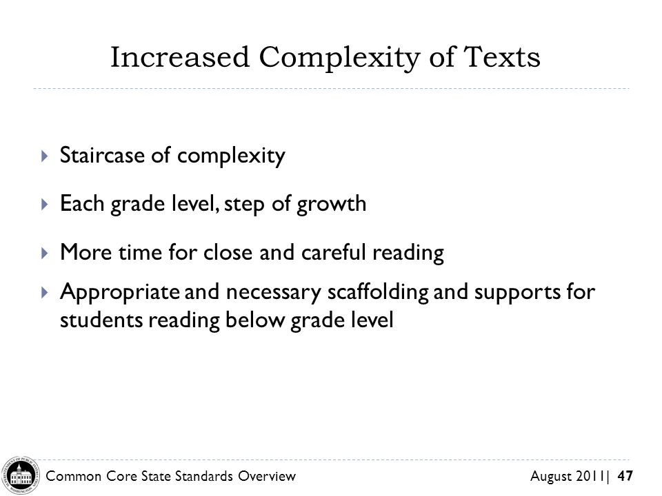Increased Complexity of Texts