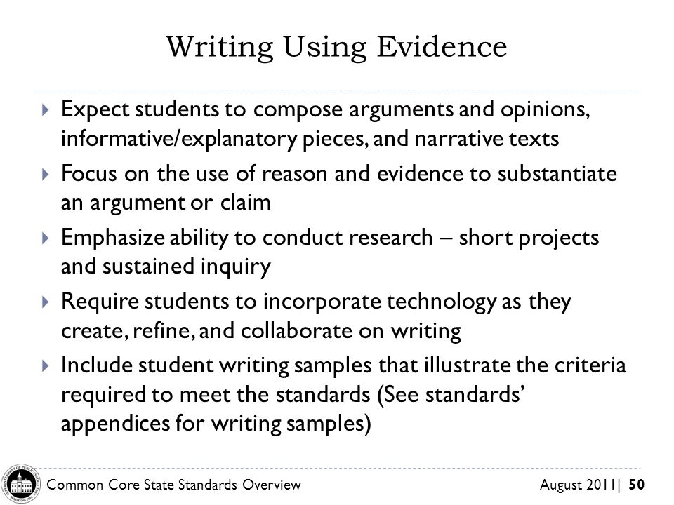 Writing Using Evidence