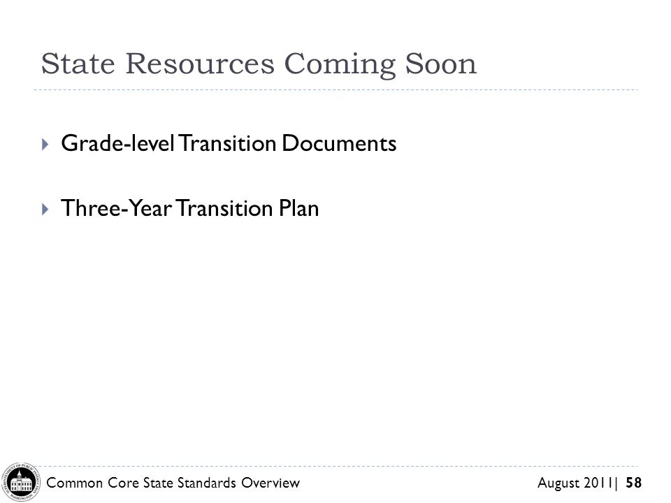 State Resources Coming Soon