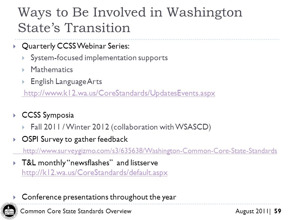 Ways to Be Involved in Washington State's Transition