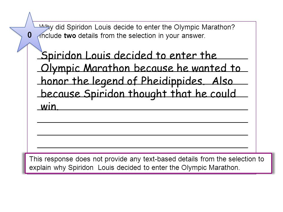 5 Why did Spiridon Louis decide to enter the Olympic Marathon Include two details from the selection in your answer.