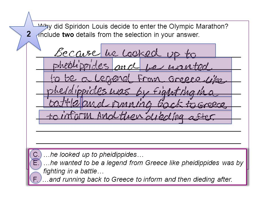 2 5 Why did Spiridon Louis decide to enter the Olympic Marathon Include two details from the selection in your answer.