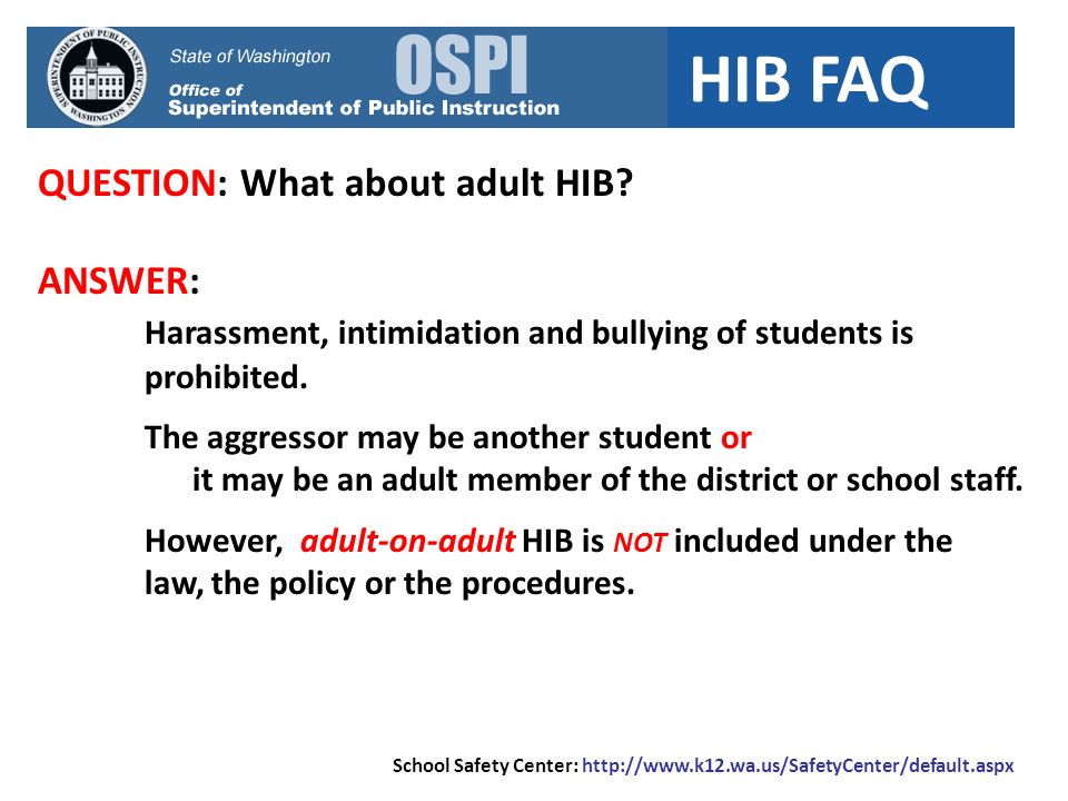 QUESTION: What about adult HIB