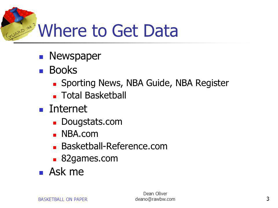 Where to Get Data Newspaper Books Internet Ask me