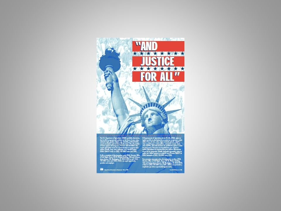This is the most current And Justice For All poster