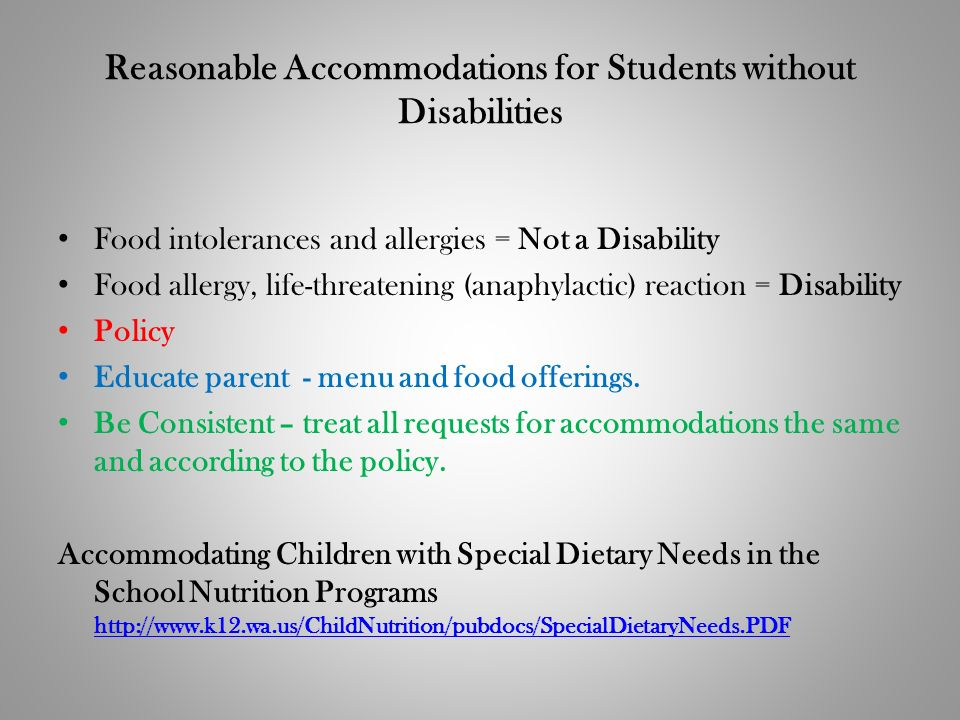 Reasonable Accommodations for Students without Disabilities
