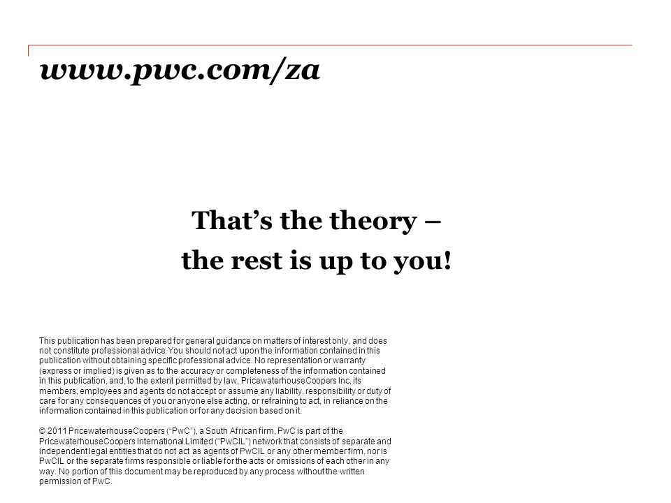 Understanding the new Companies Act PwC South Africa - oukas