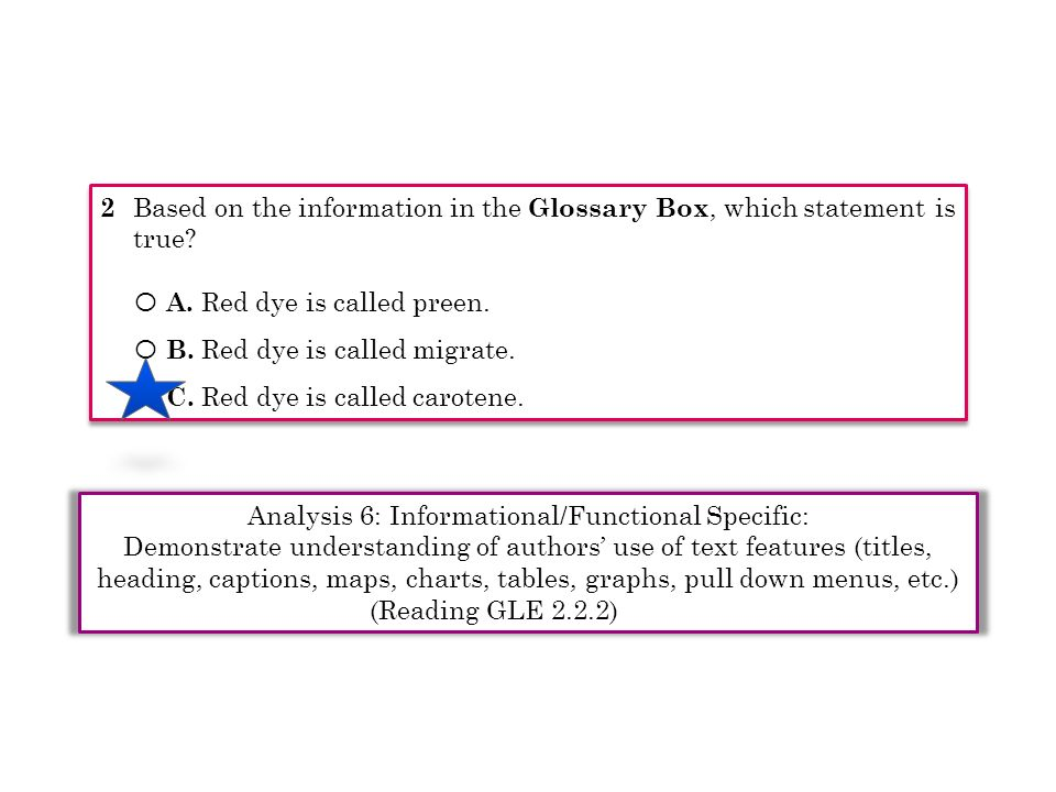2 Based on the information in the Glossary Box, which statement is