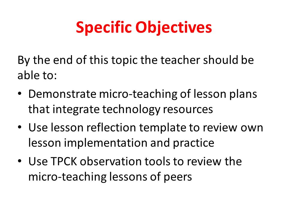 Reflection on Microteaching Exercise