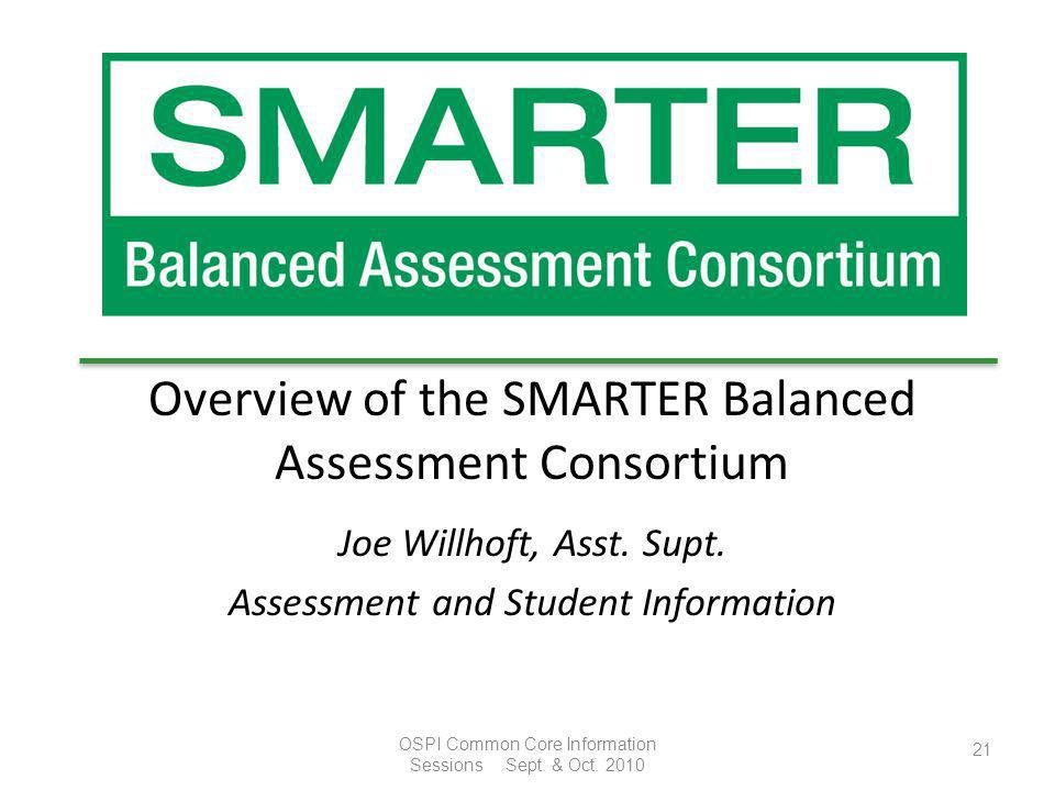 Overview of the SMARTER Balanced Assessment Consortium