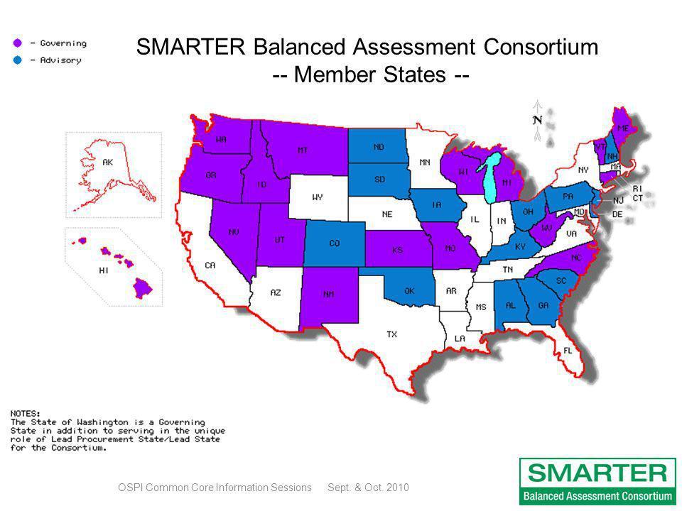 SMARTER Balanced Assessment Consortium -- Member States --