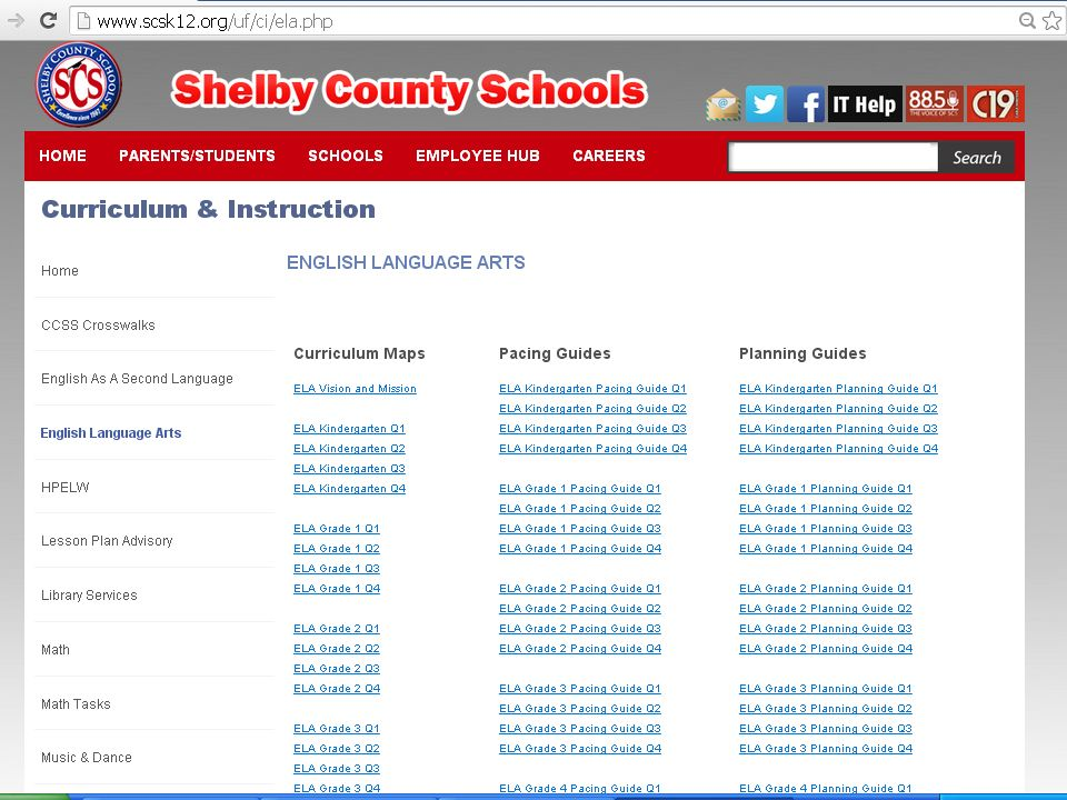 Shelby county schools cordova high school district learning day 22 click on english language arts sciox Images
