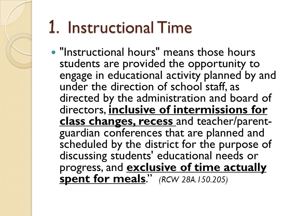 1. Instructional Time
