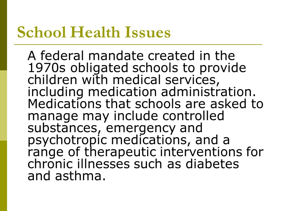 School Health Issues