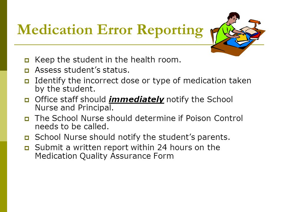 Medication Error Reporting