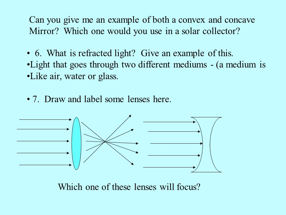 Can you give me an example of both a convex and concave