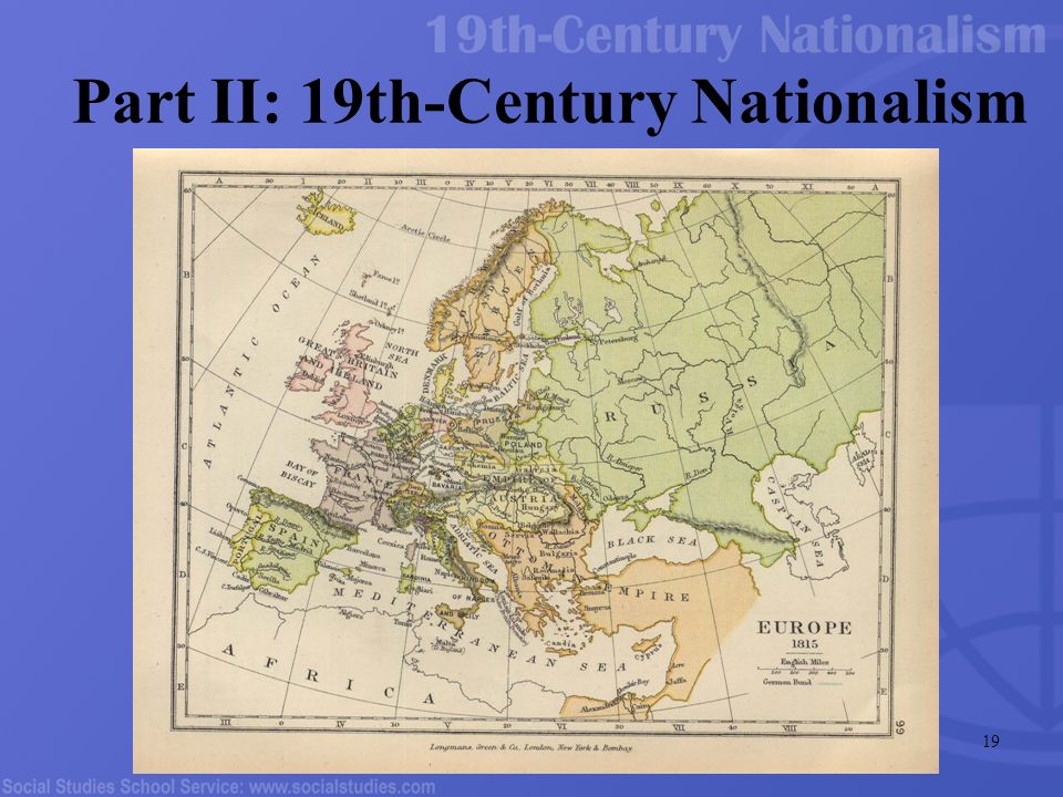 essay on nationalism in the 19th century This essay aims to analyze the relation between nation and religion from the   this is a fundamental difference with regard to nationalism in the nineteenth and .