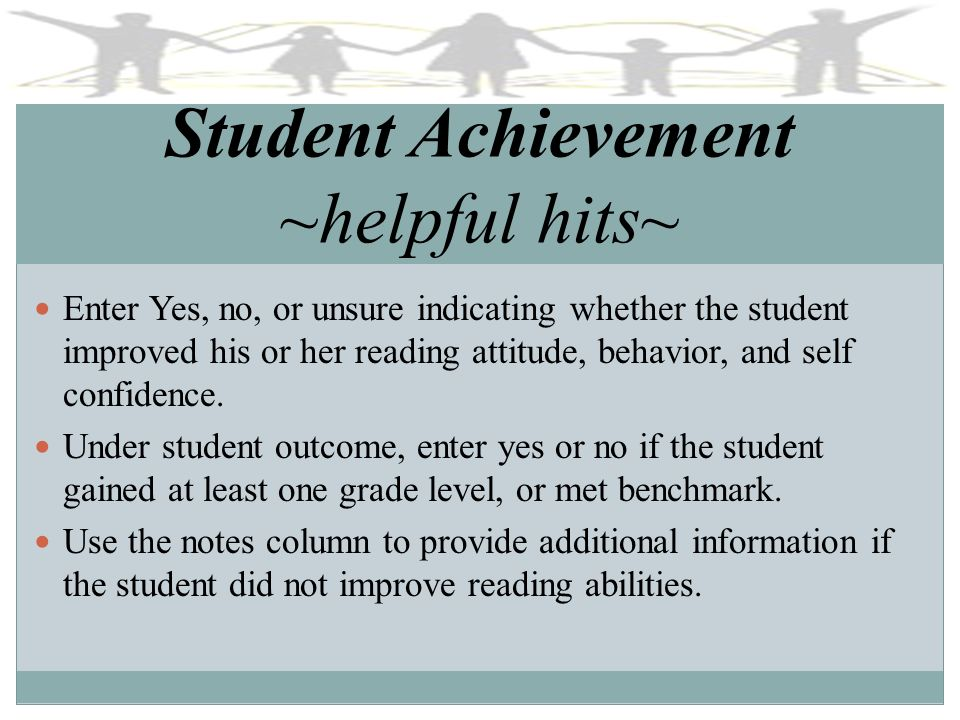 Student Achievement ~helpful hits~