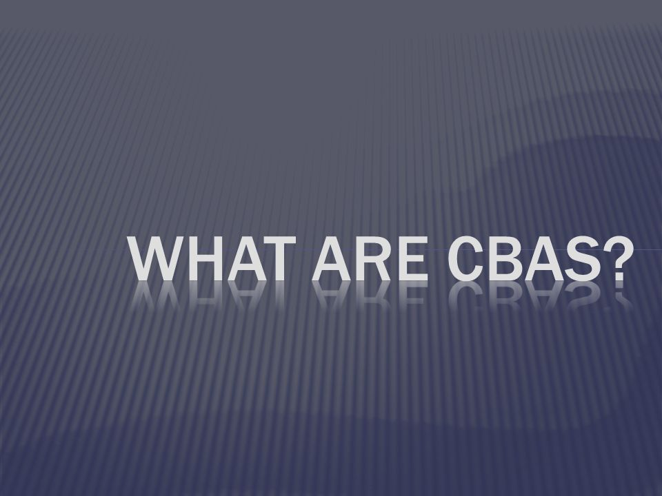 What are CBAs 16