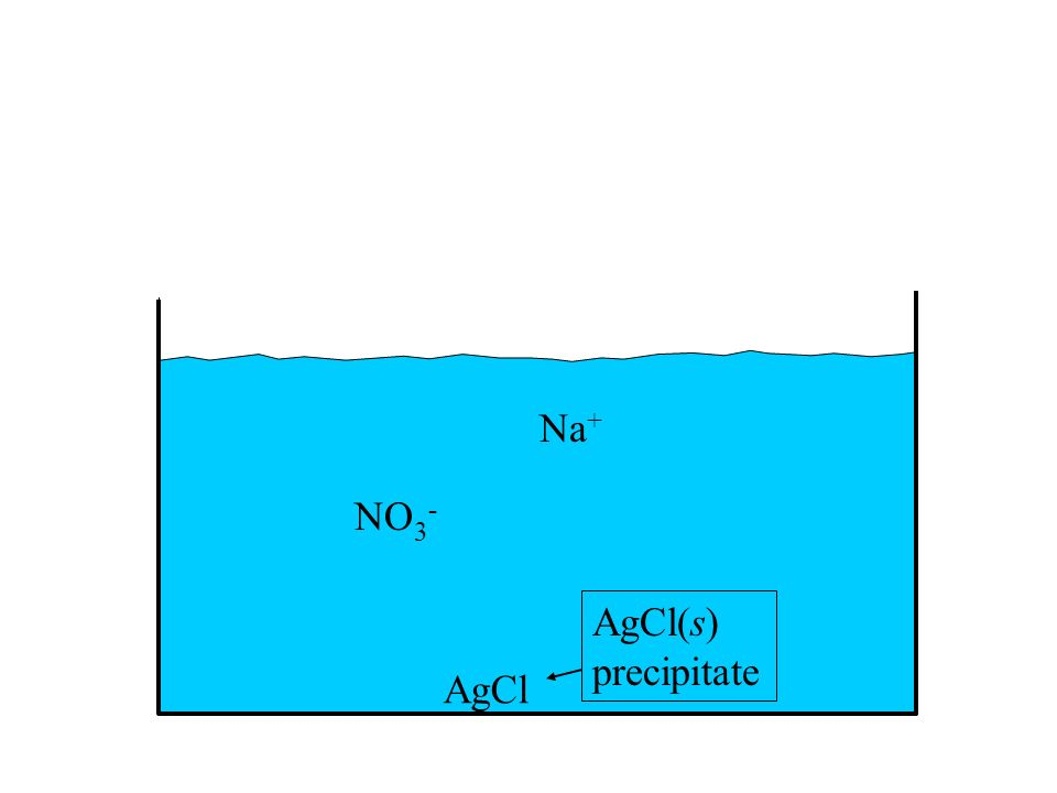 Na+ NO3- AgCl(s) precipitate AgCl