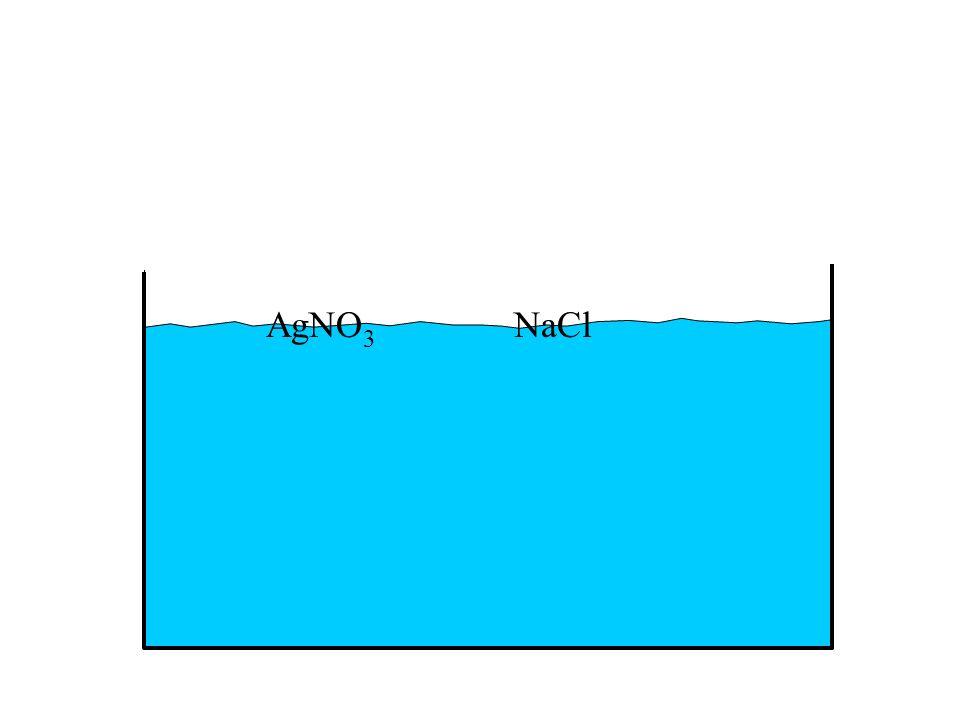 AgNO3 NaCl