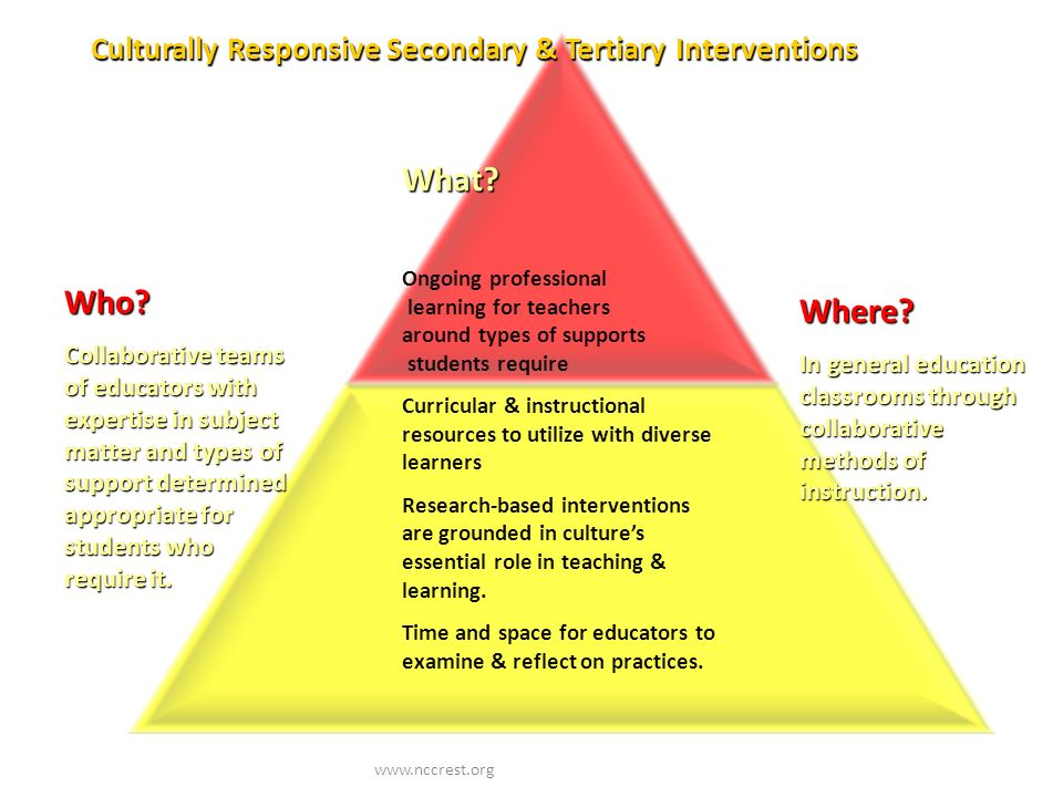Culturally Responsive Secondary & Tertiary Interventions