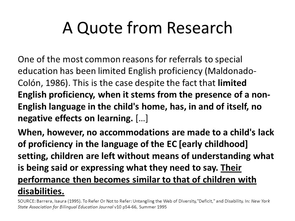 A Quote from Research
