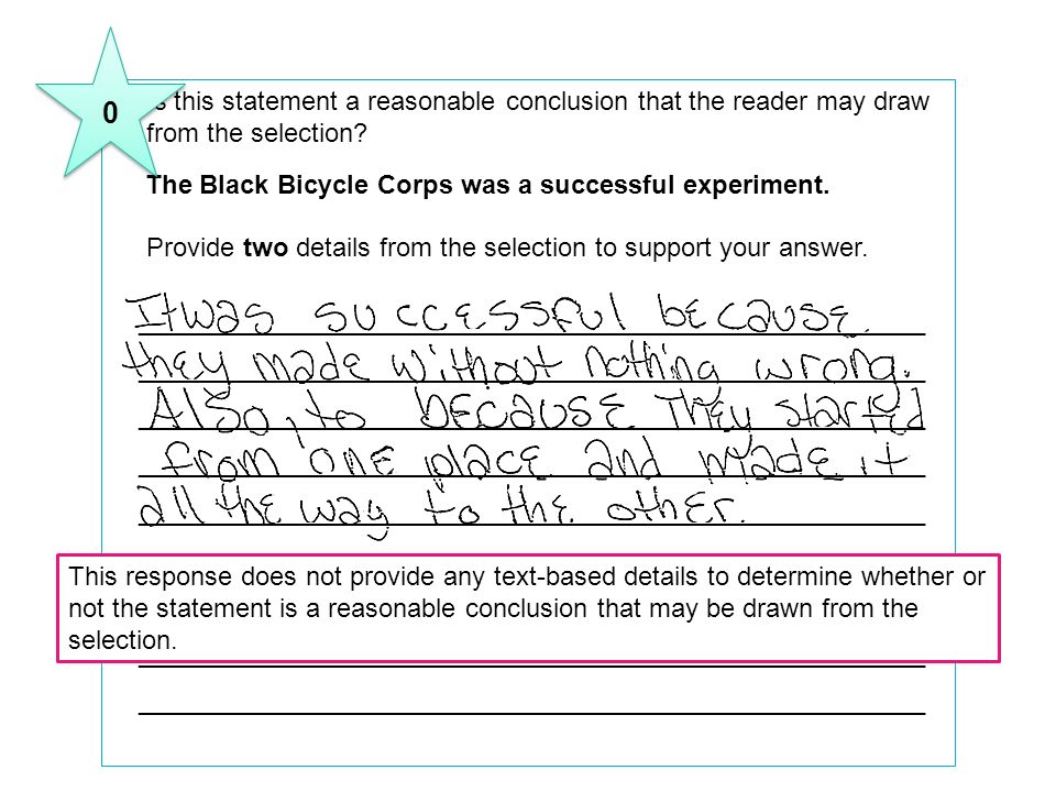8 Is this statement a reasonable conclusion that the reader may draw from the selection The Black Bicycle Corps was a successful experiment.