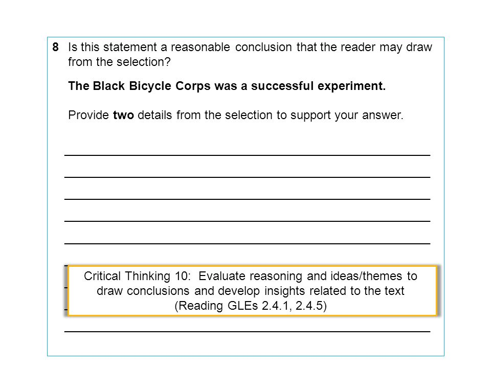The Black Bicycle Corps was a successful experiment.