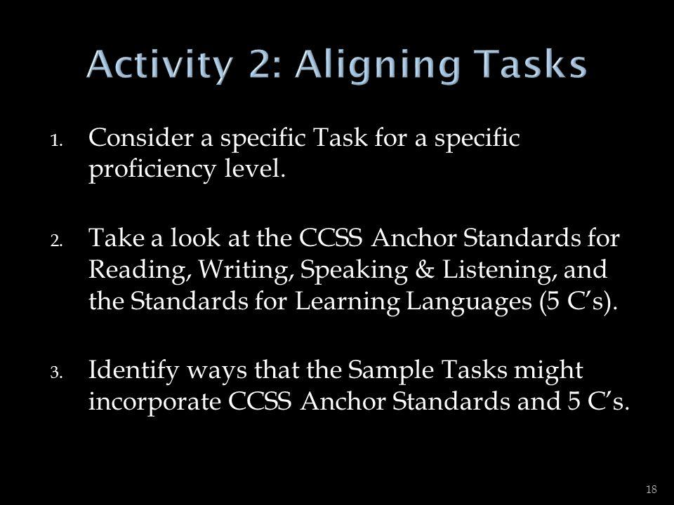Activity 2: Aligning Tasks
