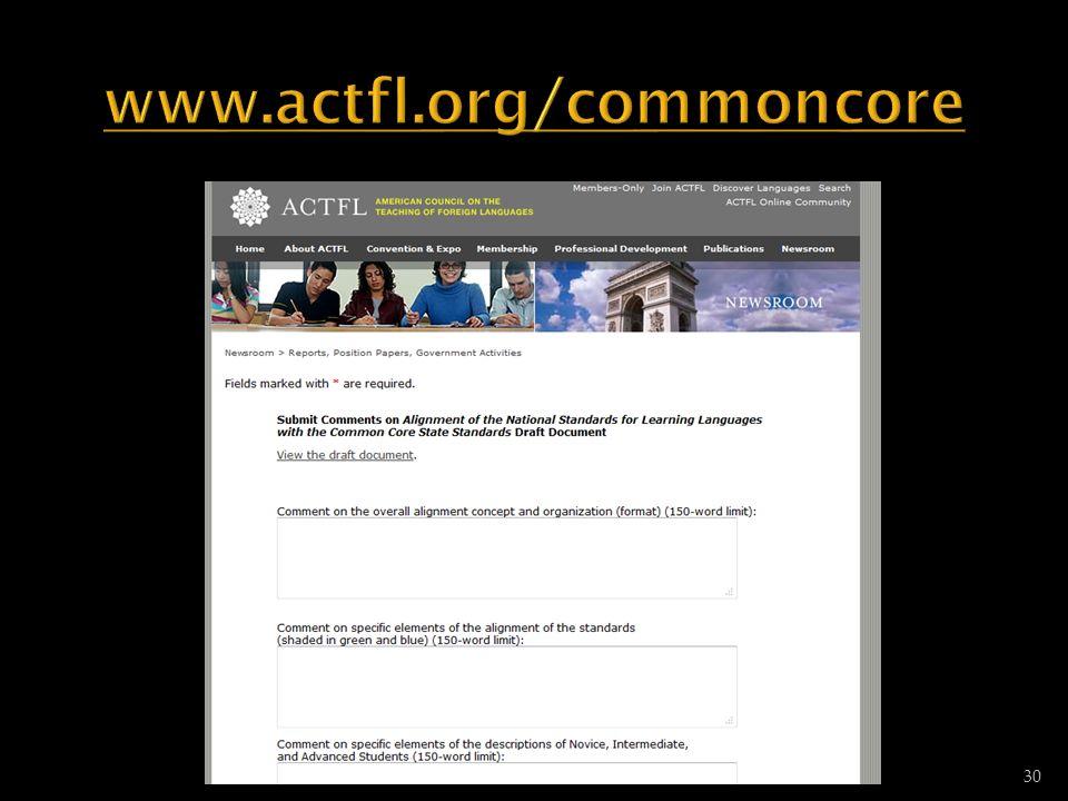 www.actfl.org/commoncore