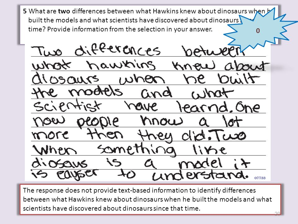 5 What are two differences between what Hawkins knew about dinosaurs when he built the models and what scientists have discovered about dinosaurs since that time Provide information from the selection in your answer.