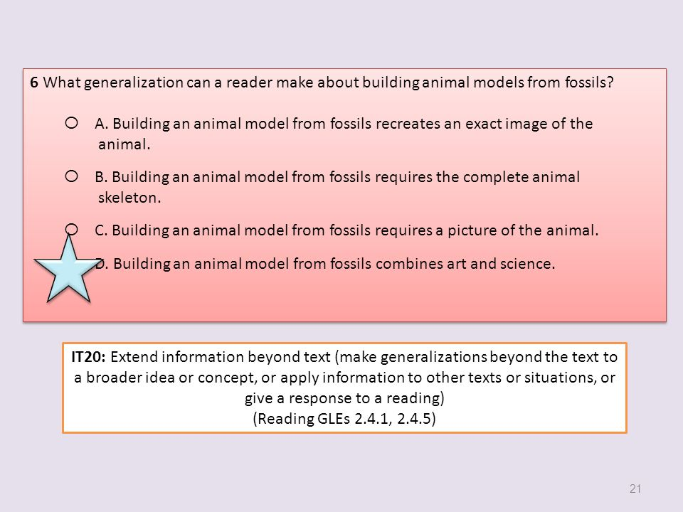 6 What generalization can a reader make about building animal models from fossils