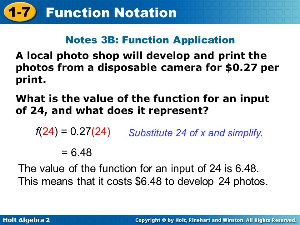 Notes 3B: Function Application