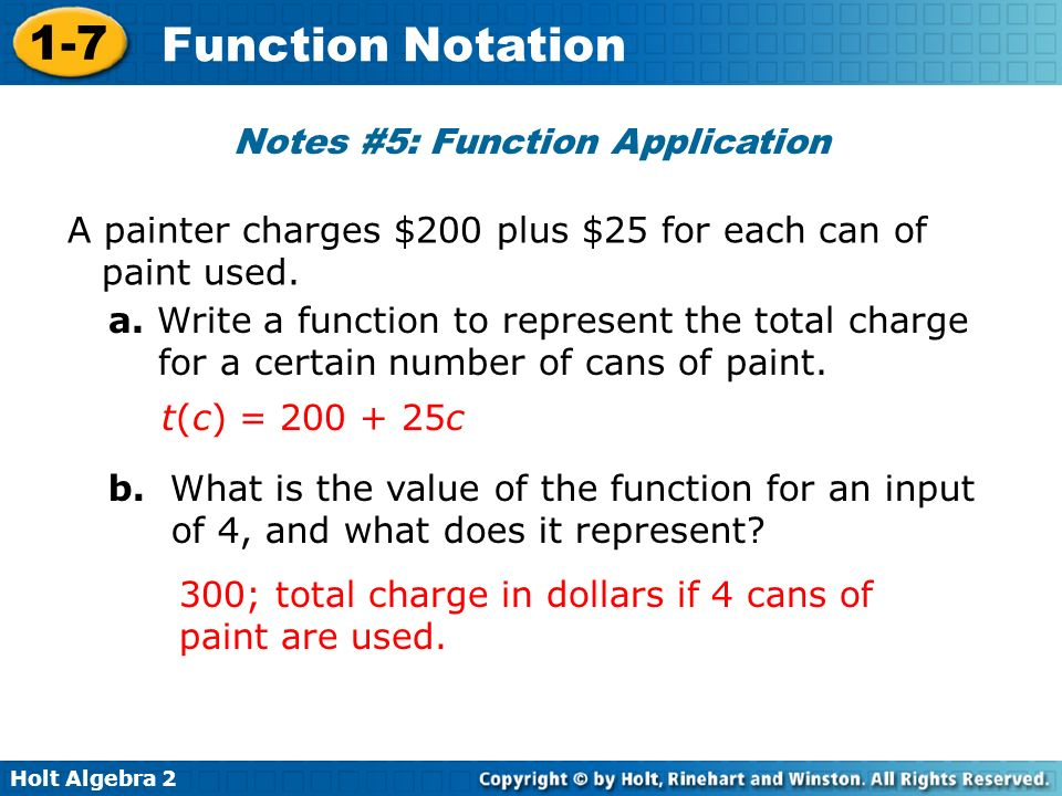 Notes #5: Function Application