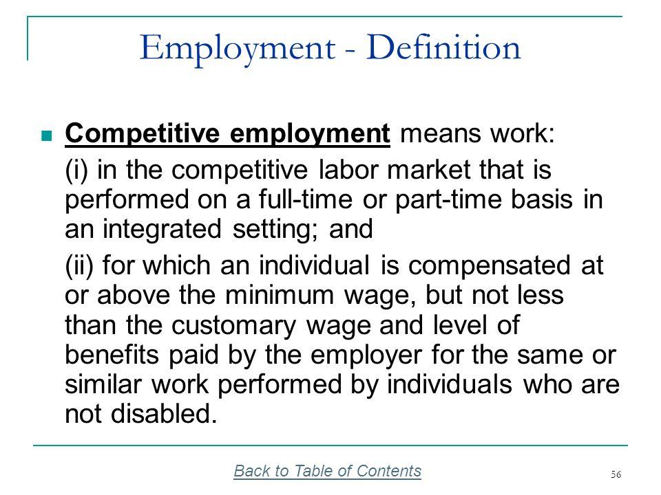 Employment - Definition