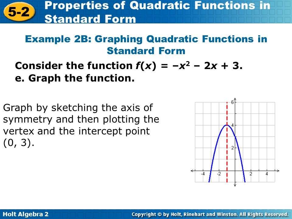 graphing quadratic equations in standard form powerpoint tessshebaylo. Black Bedroom Furniture Sets. Home Design Ideas