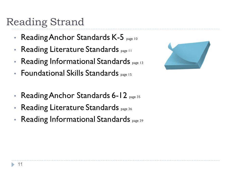Reading Strand Reading Anchor Standards K-5 page 10