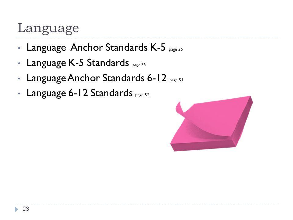 Language Language Anchor Standards K-5 page 25