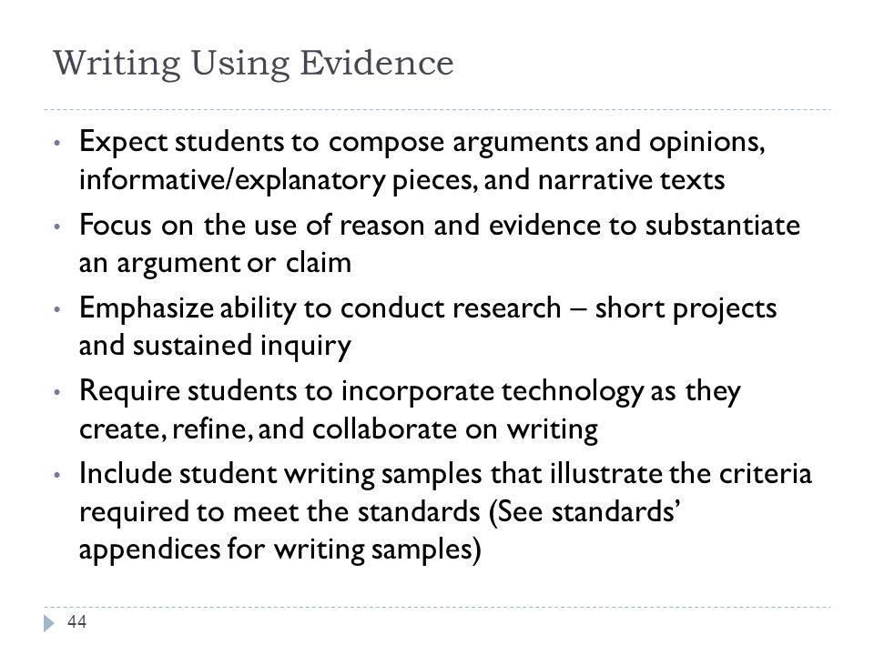 Writing Using Evidence