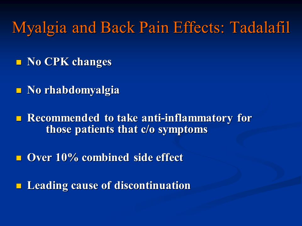 cialis side effects back pain